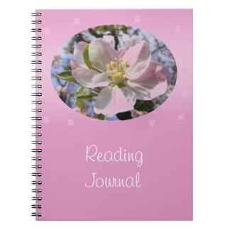 Apple florece diario de la lectura de la flor libros de apuntes