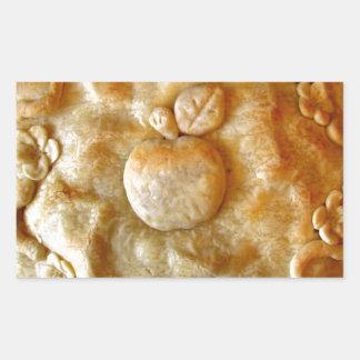 Apple florece empanada pegatina rectangular