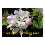 Apple florece invitación de boda felicitacion