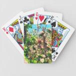 Apple florece pintura al óleo baraja cartas de poker