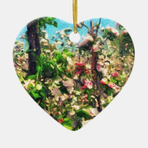 Apple florece pintura al óleo ornamentos de reyes magos