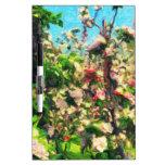 Apple florece pintura al óleo pizarra blanca
