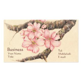 Apple florece rama tarjeta de visita