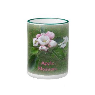 Apple florece taza de dos colores