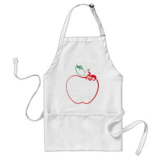 apple flourish adult apron