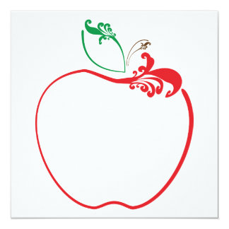 apple flourish card