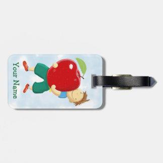 Apple for Teacher Bag Tag