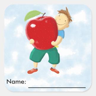 Apple for Teacher Square Sticker