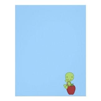 apple for teacher turtle letterhead