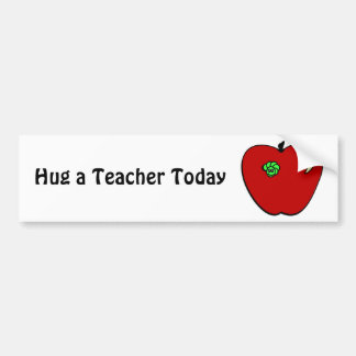 Apple for the Teacher Bumper Sticker