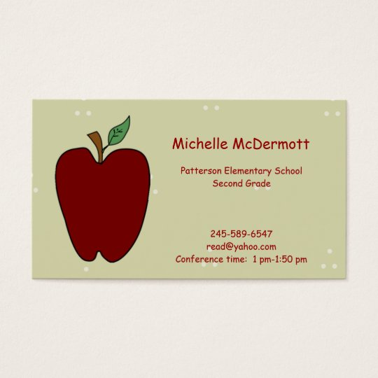 Apple for the Teacher Business Card