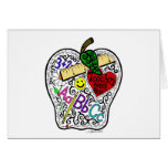 Apple for the teacher greeting cards