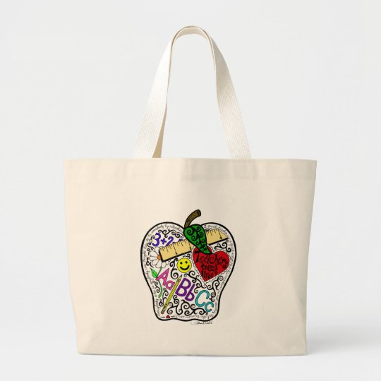 Apple for the teacher large tote bag