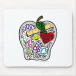 Apple for the teacher mouse pad