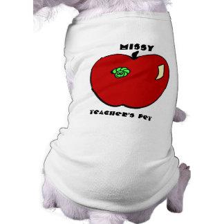 Apple for the Teacher Pet Apparel Doggie Tshirt