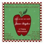 Apple for the Teacher Retirement Party Invitation