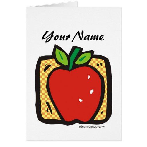 Apple fresco tarjeta de felicitación