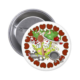 Apple Frog Pinback Button