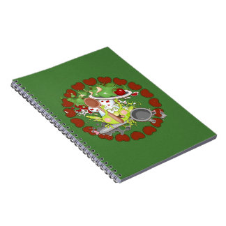 Apple Frog Spiral Notebook
