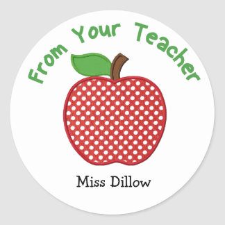Apple From Your Teacher Stickers