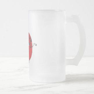 Apple Frosted Glass Beer Mug