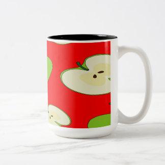 Apple fruit pattern Two-Tone coffee mug