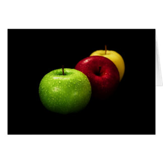 apple fruit  photograph card