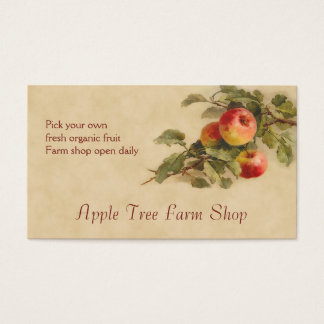 Apple fruit sales business card