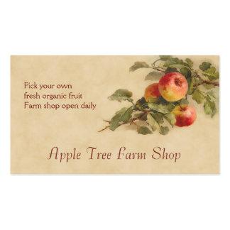 Apple fruit sales business card templates