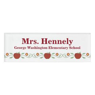 Apple Garland Teacher's Custom Name Tag