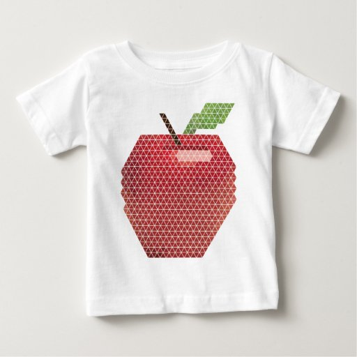 Apple geométrico playeras