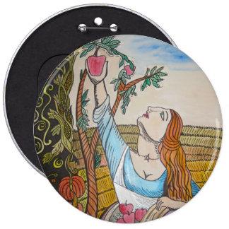 Apple Girl Pinback Buttons