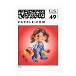 APPLE GIRL by SHARON SHARPE Postage