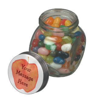 Apple Glass Candy Jars