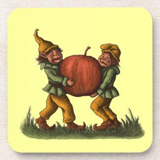 apple gnomes cork coaster