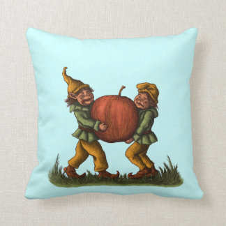 apple gnomes funny fantasy character art pillow