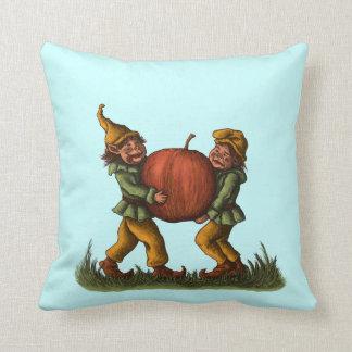 apple gnomes funny fantasy character art pillow