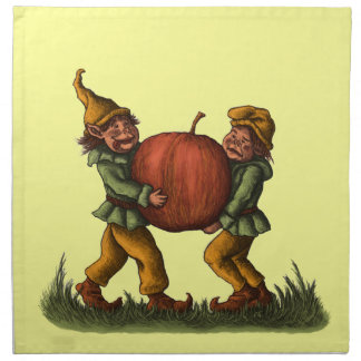 apple gnomes napkin
