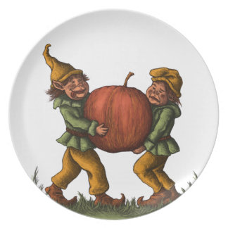apple gnomes plate