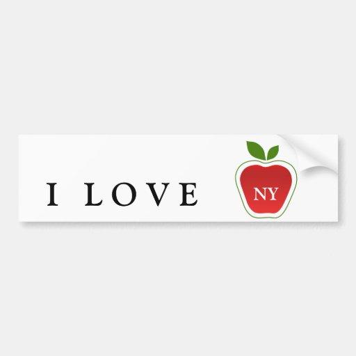 Apple grande etiqueta de parachoque