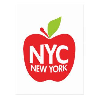 Apple grande verde NYC Tarjeta Postal