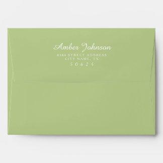 Apple Green 5 x 7 Pre-Addressed Envelopes