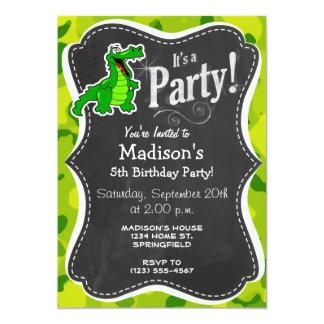 Apple Green Camo; Alligator, Gator Card
