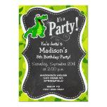 Apple Green Camo; Alligator, Gator 5x7 Paper Invitation Card