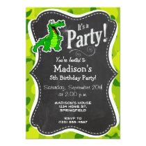 Apple Green Camo; Alligator, Gator Invitation