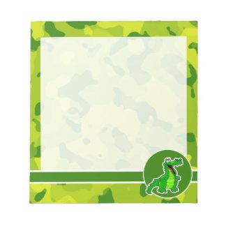 Apple Green Camo; Alligator, Gator Notepad