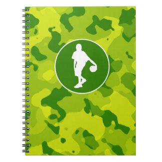 Apple Green Camo; Basketball Notebook