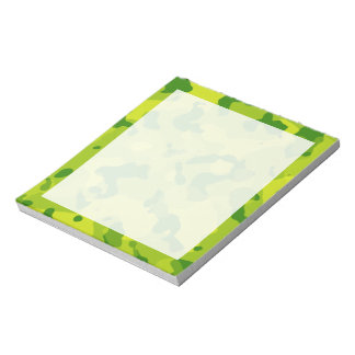 Apple Green Camo; Camouflage Notepad