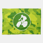 Apple Green Camo; Cycling Hand Towels