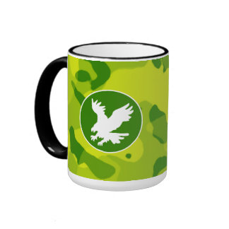 Apple Green Camo; Eagle Coffee Mugs